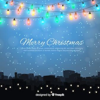 멋진 크리스마스 배경 디자인