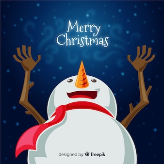 Lovely christmas background with flat design