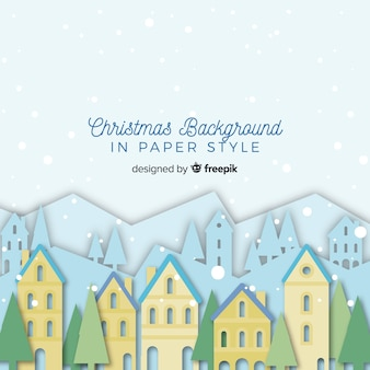Lovely christmas background with paper style