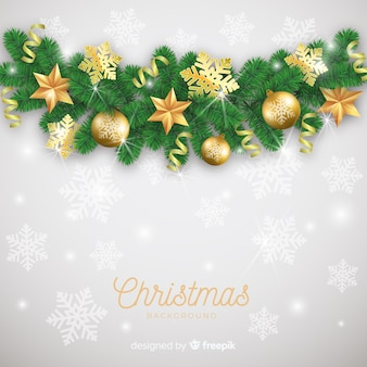 Lovely christmas background with realistic design