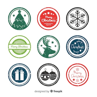 Lovely christmas badge collection
