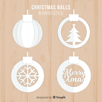 Lovely christmas ball collection with paper style