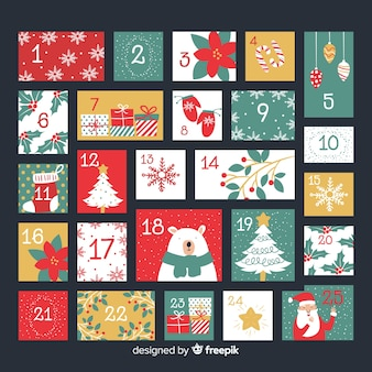Lovely christmas calendar with elegant style