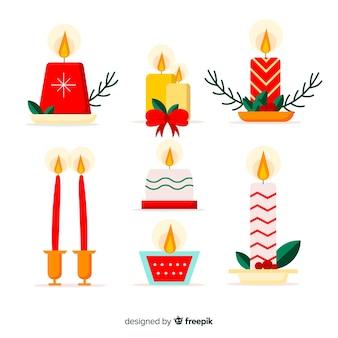 평면 디자인으로 사랑스러운 크리스마스 양초