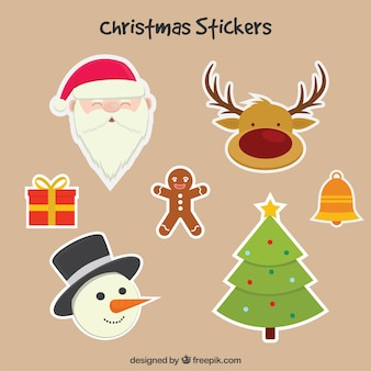 Lovely christmas character stikers