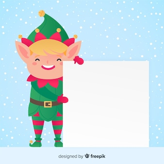 Lovely christmas character with template