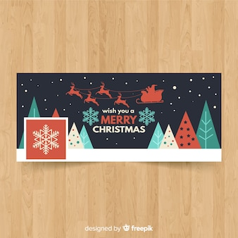 Lovely christmas facebook banner concept