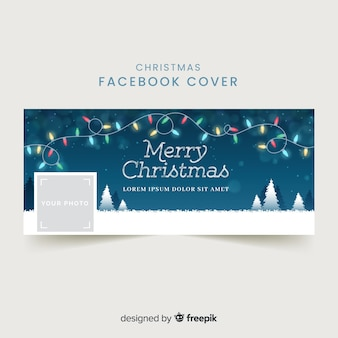 Lovely christmas facebook cover