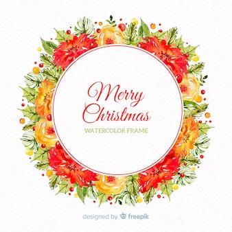 사랑스러운 크리스마스 꽃 화환