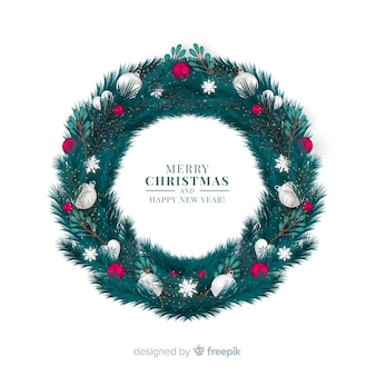 Lovely christmas floral wreath