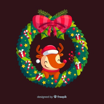 Lovely christmas floral wreath
