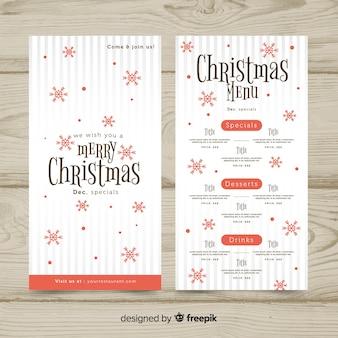 Симпатичный шаблон рождественского меню