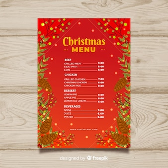 Lovely christmas menu template