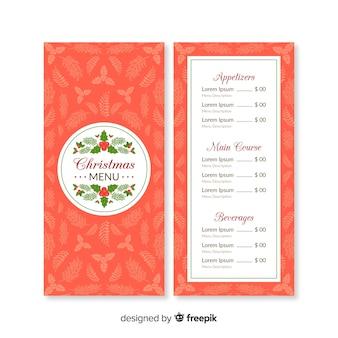 Lovely christmas menu template