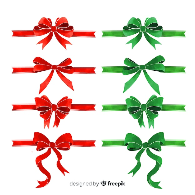 Bow Vectors Photos And Psd Files Free Downloadlovely Christmas Ribbon Collection With Flat Design