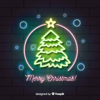 ネオンライトスタイルの素敵なクリスマスサイン