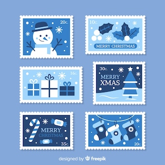 Lovely christmas stamp collectio