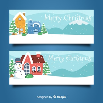 Lovely christmas town banners