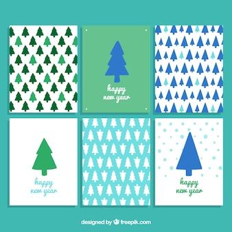Прекрасный новогодняя елка рождественская открытка