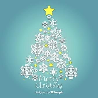 눈송이와 멋진 크리스마스 트리