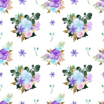 Lovely colorful floral seamless pattern