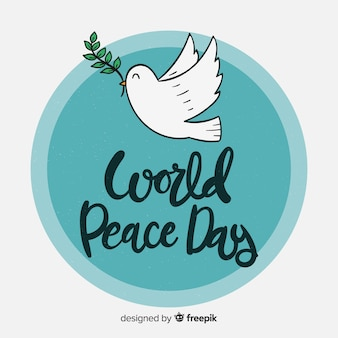 Lovely day of peace composition with cute lettering