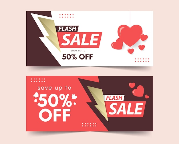Lovely day sale banners template.