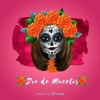 Lovely dia de muertos background