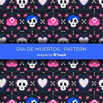 Lovely dia de muertos pattern background