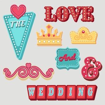 Lovely different wedding elements set