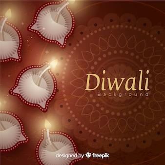 Bello sfondo di diwali con un design realistico