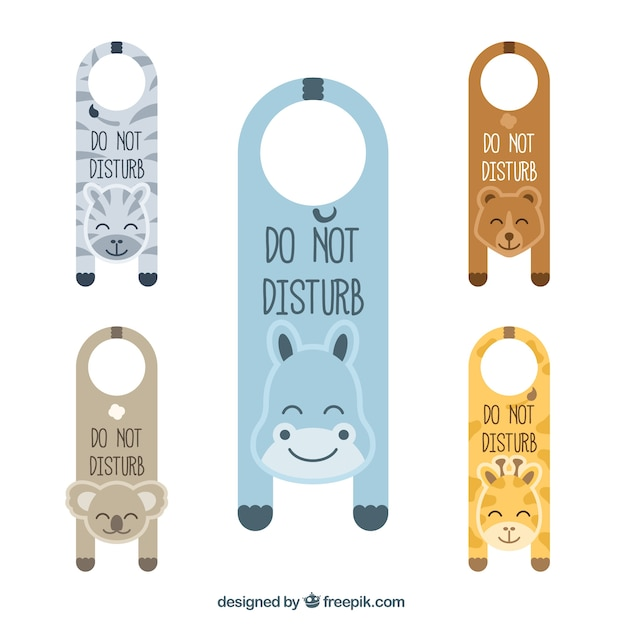 Lovely door hangers with animals