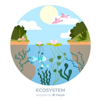 Lovely ecosystem background