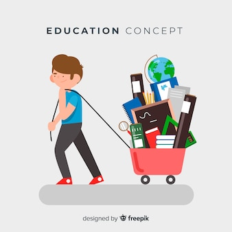 Lovely educaction concept with flat design