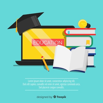 Lovely education concept with flat design