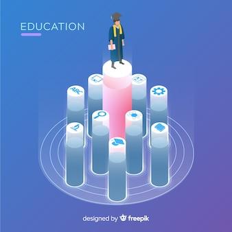 Concetto di educazione adorabile con design piatto Vettore gratuito