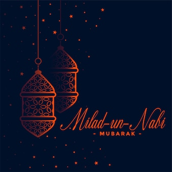 Lovely eid milad un nabi festival card