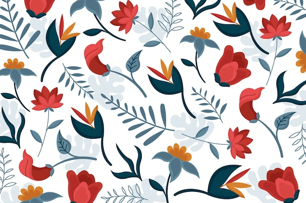 Lovely exotic floral wallpaper
