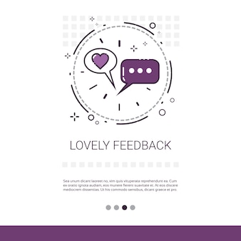 Lovely feedback like banner with copy space thin line