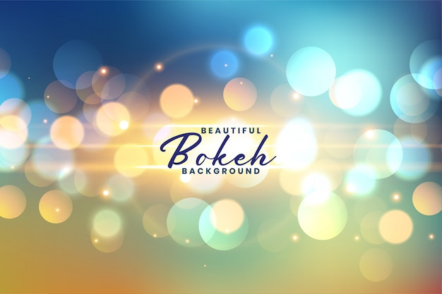 Lovely festive bokeh lights background