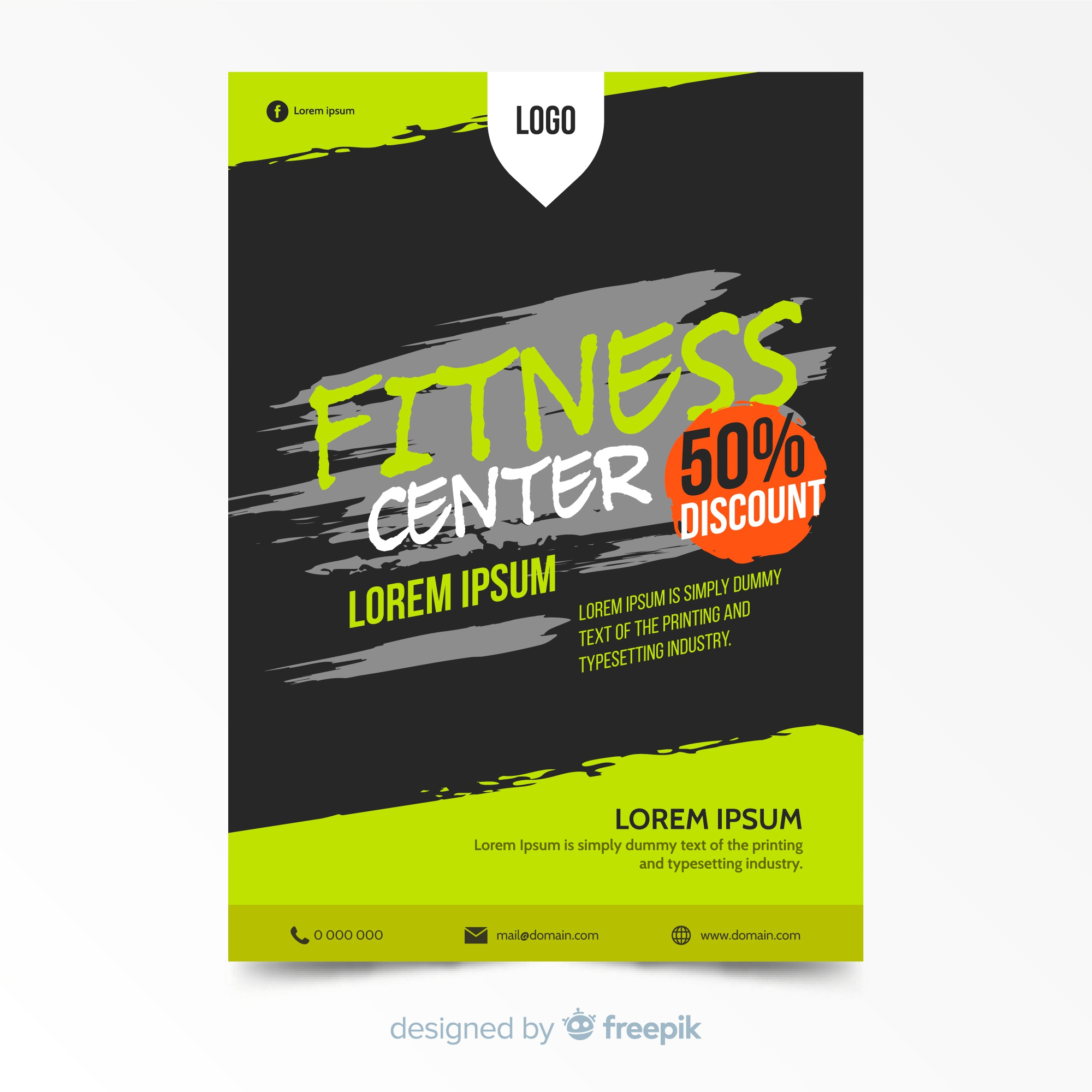 Lovely fitness flyer template