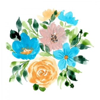 Lovely floral arrangement watercolor background