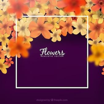 現実的なスタイルと素敵な花の背景