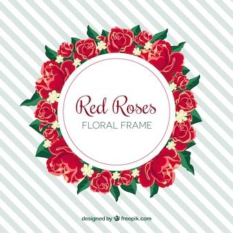 Прекрасная цветочная рамка с розами