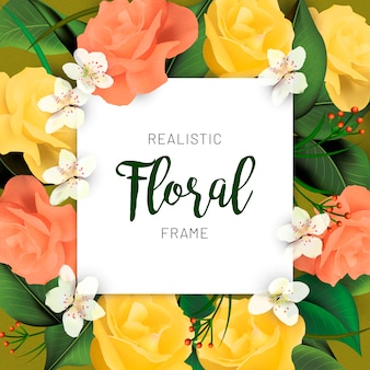 Lovely floral frame