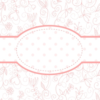 Lovely floral invitation postcard