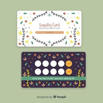 モダンスタイルの素敵な花のロイヤリティカード