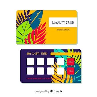Прекрасная цветочная карточка лояльности с современным стилем