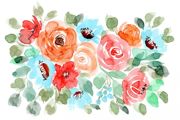 Lovely floral watercolor background
