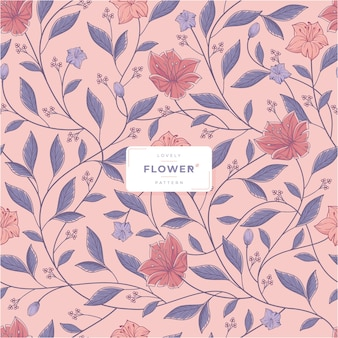 Lovely flower seamless pattern template